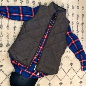 J. Crew Quilted Vest in Charcoal Grey- Medium